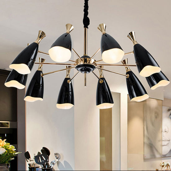 China modern black living room pendant lamp chandelier lighting in modern black living room pendant lamp chandelier lighting in 10 lights mozeypictures Image collections