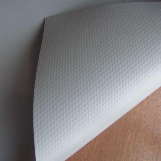 China 13 Oz Vinyl Banner Material Sovent Friendly China Grey Back Pet Pet No Curling