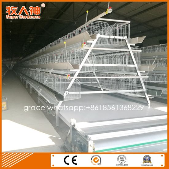 China Layer Farm Poultry Battery Cages With House Design