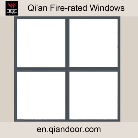 Fixed Four-Pane Steel Fire-Rated Window pictures & photos