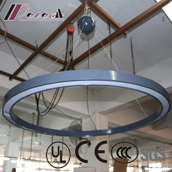 Graphite Gray Lacquered Round Ceiling Light with LED Strip