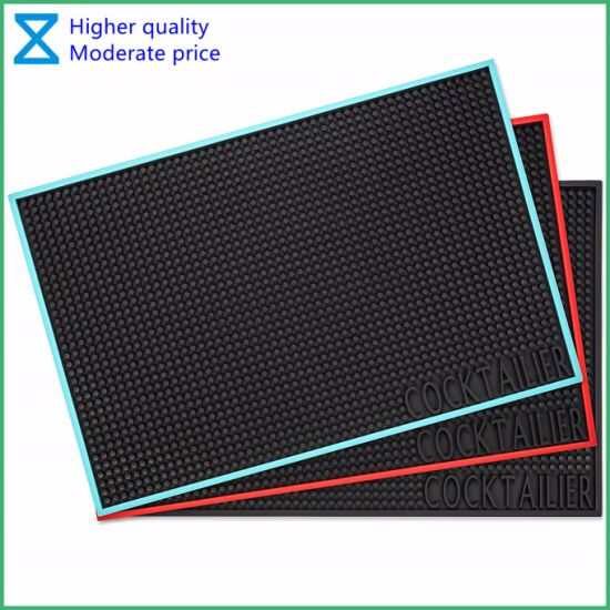 New Arrival High Quality PVC Rubber Silicone Bar Mat with Customer Logo
