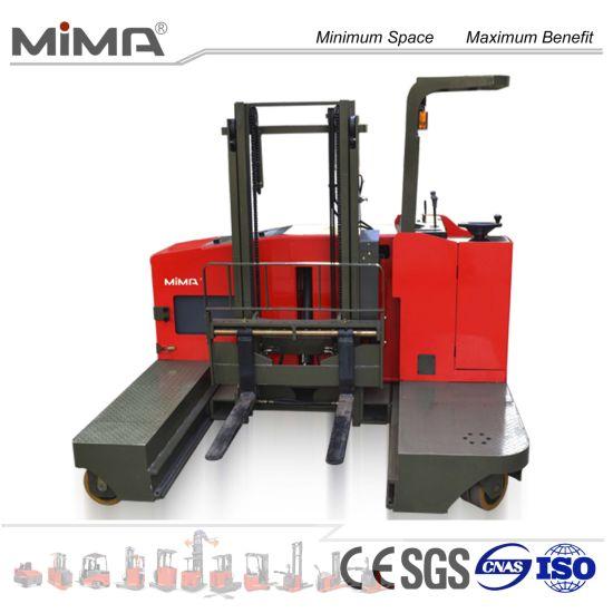 Side Loading Forklift with Side Slide Battery pictures & photos