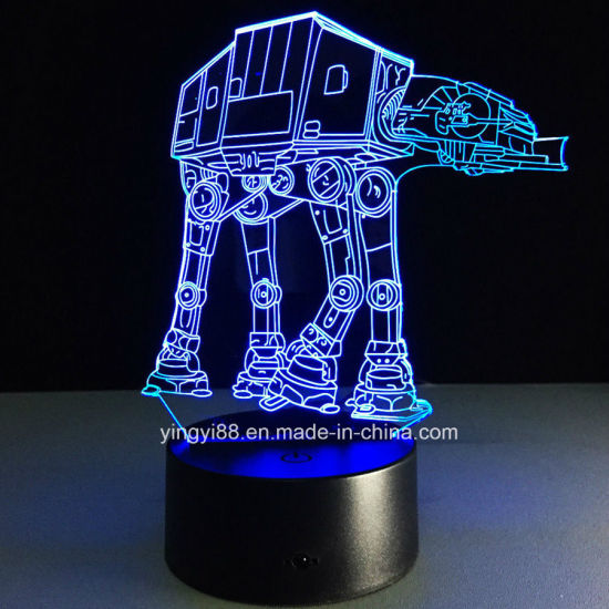 Factory Supply Star Wars 7 Colors Change LED 3D Illusion USB Night Light Desk Lamp pictures & photos