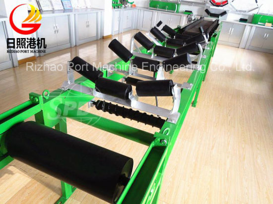 SPD Low Radial Runout Belt Conveyor Carry Trough Return Rubber Steel Roller for Different Industries pictures & photos