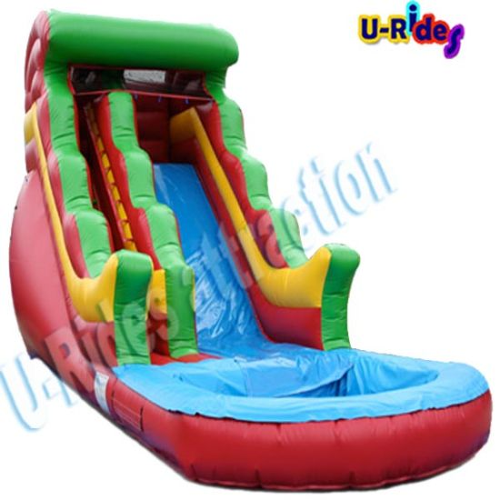 Distribution price water toy inflatable water slide inflatable slide with pool for event rental pictures & photos