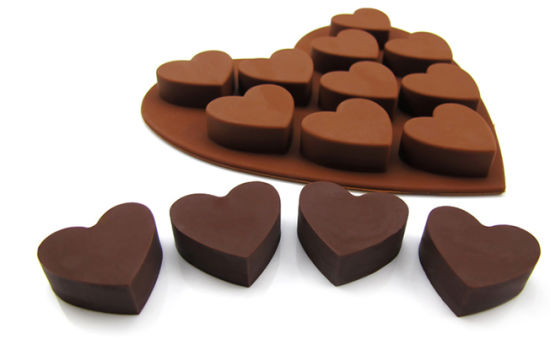 China Valentine S Day Heart Shape Silicone Chocolate Mold Kch 021