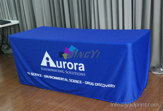 Custom Printed Your Logo Exhibition Tradeshow Table cloth table throw Cover pictures & photos