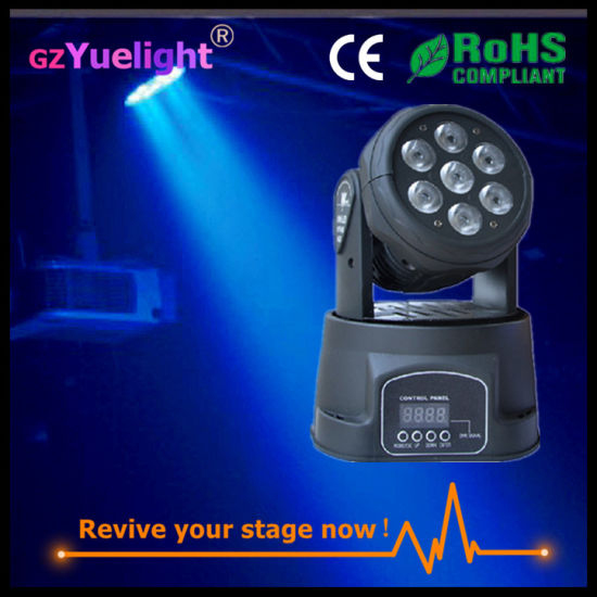 Guangzhou Popular Nice 7PCS*12W 4in1 LED Moving Head Light