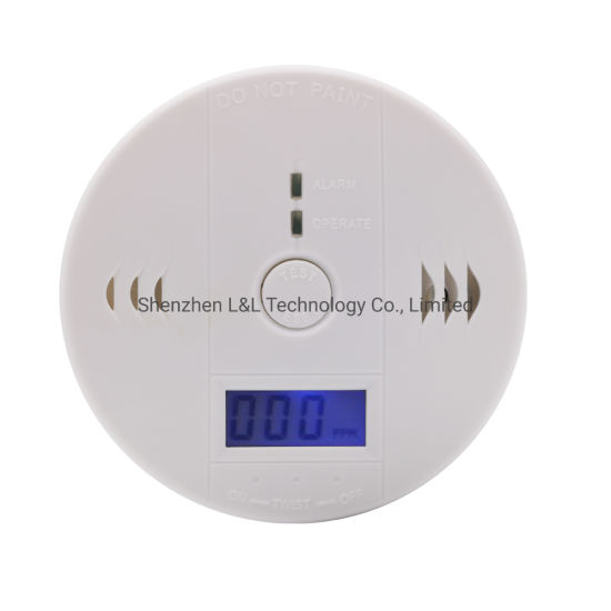 Best Price LCD Display Battery Operated Carbon Monoxide Detector Alarm