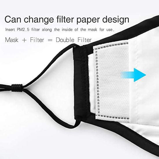 【in Stock U.S.!!!】 Washable Face Cover with Filters Reusable Dustproof Face Protection with Adjustable Ear Strap