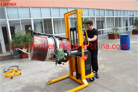 520kg Capacity Portable Powered Hydraulic Semi Electric Drum Lifter Yl520