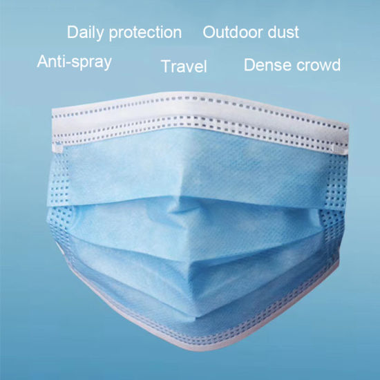 Face Mask Disposable, 3-Ply Non-Woven with Ear Loop