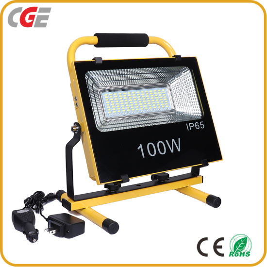 Construction Portable IP65 100watt Integrated All in One Solar LED Floodlight