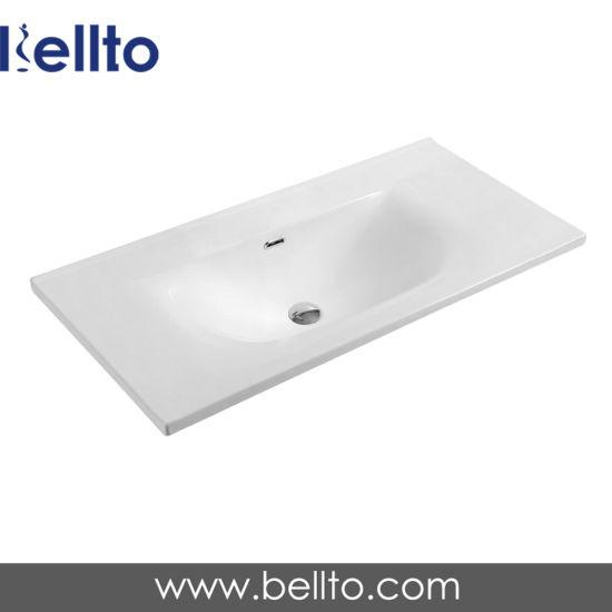 China 36 Inch Modern Vanity Unit Ceramic Bathroom Sink Single Bowl 789050 China Bathroom Sink Bathroom Vanity