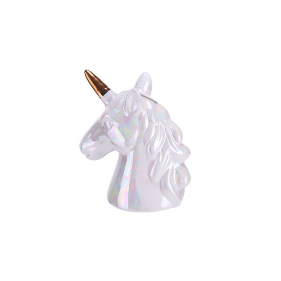 Cute Ceramic Unicorn Money Bank Unicorn Coin Bank for Home Decoration pictures & photos