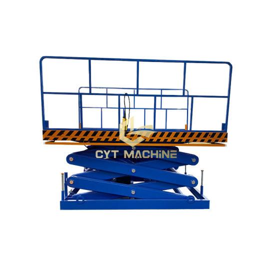 Custom 0-50tons Hydraulic Scissor Cargo Lift Goods Lift Table