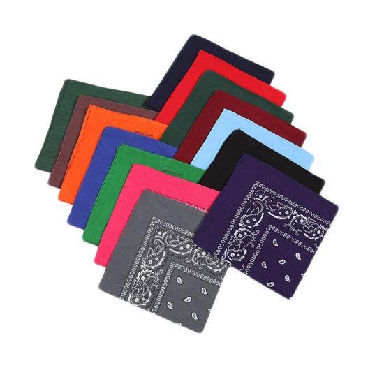 Wholesale Fashion Promotional Head Wrap Multi-Purpose Custom Printing 100% Cotton Paisley Bandana