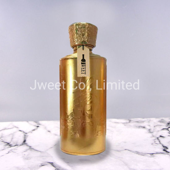 Hot Stamping Glass Liquor Bottle for Tequila Wine