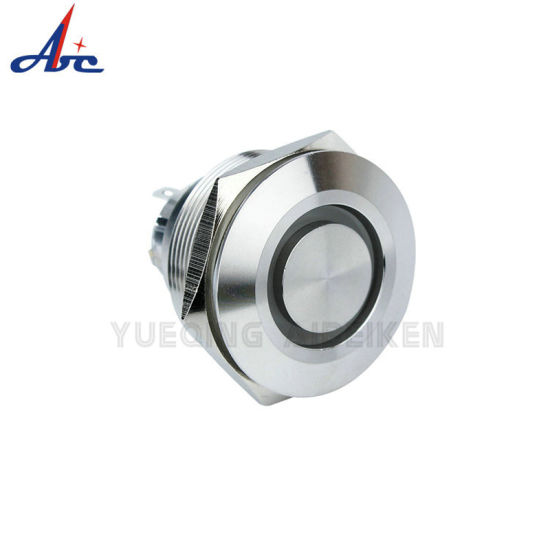 30mm Tri-Color Momentary LED Custom Power Push Button Switch