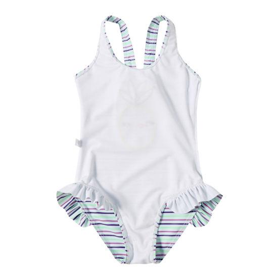 73b82e1569 Embroidery Chick Baby Girl Kids Bathing Suit Stripe One-Piece Beachwear. Get  Latest Price