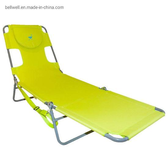 China Chaise Lounge Folding Cot Camping Adjustable Recliner Sunbathing Beach Chair China Beach Chair Umbrella Trolley Beach Chair