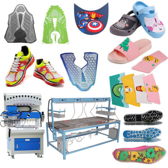 Rubber PVC Sandal Slippers Strap Cover Making Automatic PU Sport Running Shoe Vamp Molding Machine for Sports Shoes Upper Sole