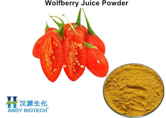 China Wholesale Goji Berry Juice Powder Wolfberry Juice Powder