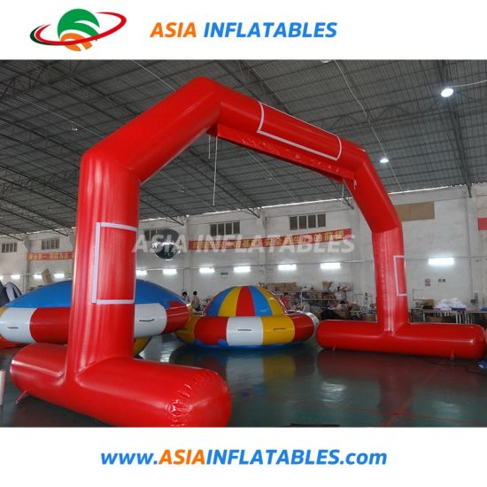 Air-Tight Inflatable Finish Line Floating on Water Arch for Water Sports Events, Start Finish Line Entrance Archway pictures & photos