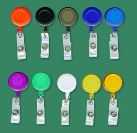 Retractable with Belt Clip /& Plastic Strap 50 ID Badge Reels Lanyards Black