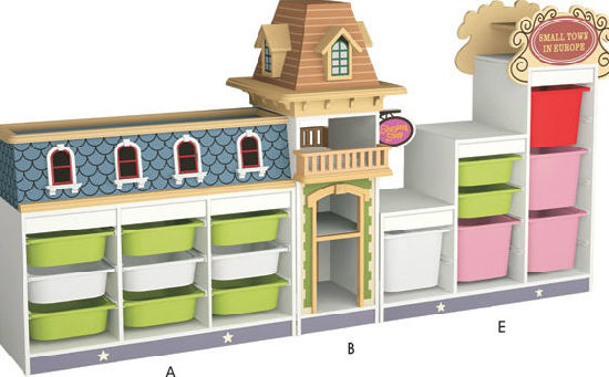 Factory Price of Lovely and Practical Wooden Children Cabinet Furniture