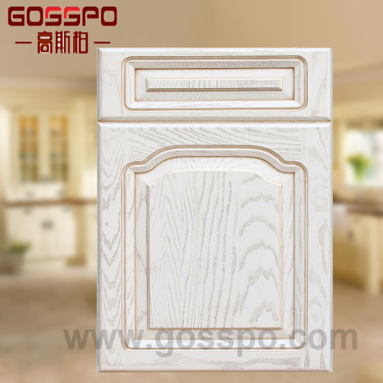 White Painting Solid Wood Kitchen Cabinet Doors (GSP5-013)