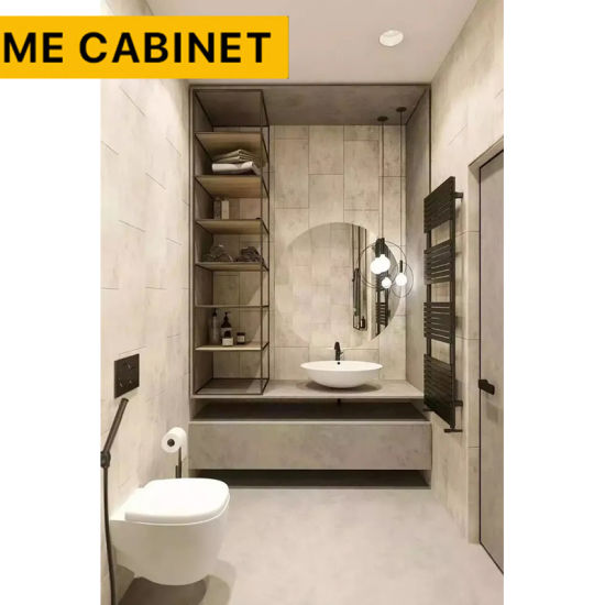 Mecabinet Bathroom Furniture China Suppliers Modern Design Style Ceramics Countertop Material Bath/Bathroom Vanity Cabinet for Hotel/Home
