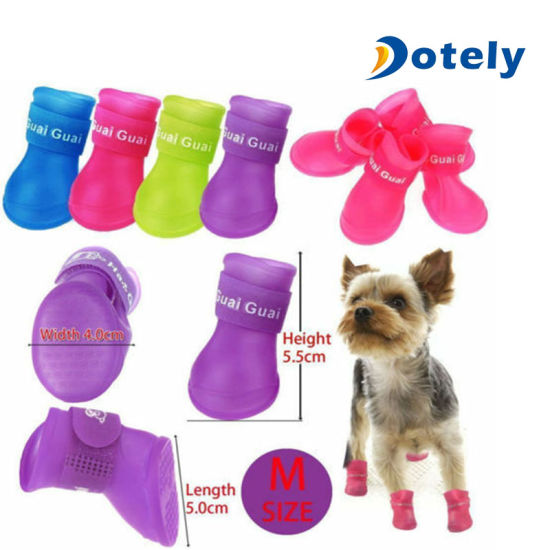 Pet Dog Puppy Anti-Slip Rain Snow Boots Shoes Booties