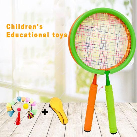 Plastic Material Outdoor Sports Children's Badminton Racket Set