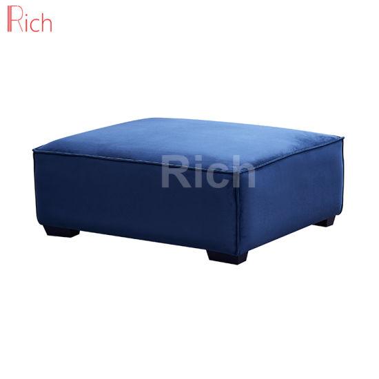 Super Living Room Furniture Square Sofa Footstool Blue Velvet Machost Co Dining Chair Design Ideas Machostcouk