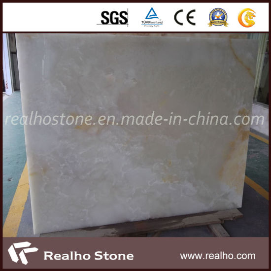 Natural Stone White Onyx Marble Tile Slab Price pictures & photos