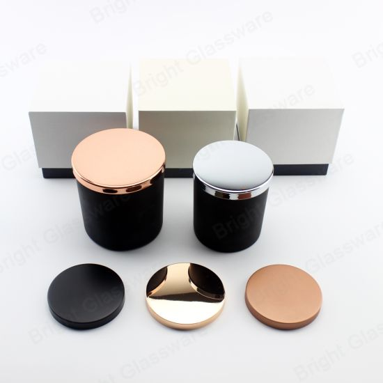 Glass Candle Holder with Custom Packaging Boxes Empty Candle Jars for Promotion