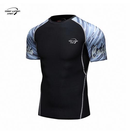 Cody Lundin Long Sleeve Rash Guard Training Bjj Fightwear Compression Shirt Sublimated Digital Print Rashguard