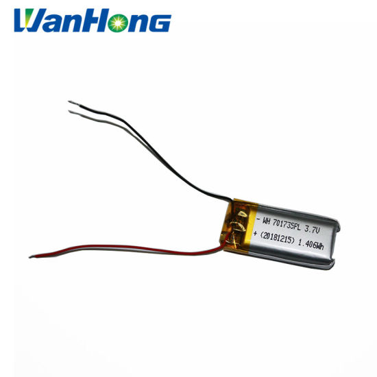 3.7V 701735pl 380mAh Li-Polymer Battery Lithium Battery Pack for Speaker
