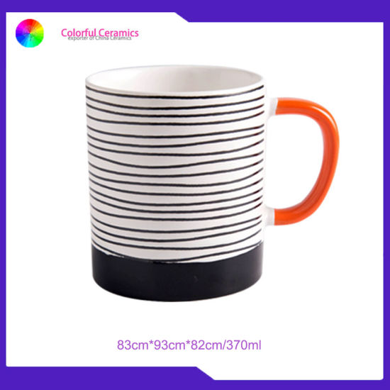 Simple Lines Cups Ceramic Mug Custom Coffee Mugs Mug Set pictures & photos