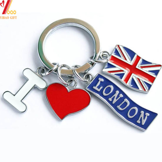 2019 Hot Sales Custom London Design Nickle/Gold/Brass Plating Zinc Alloy Metal Keychain for Souvenir Gift/Promotional Gift/Travel Gift/Key Accessory