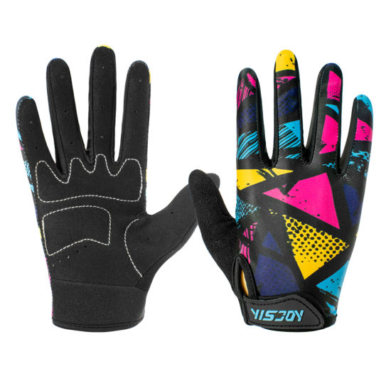 Yisjoy Kids Children Bike Gloves Padded Bicycle Cycling Riding Bicycle Racing Sports Gloves for Men Women