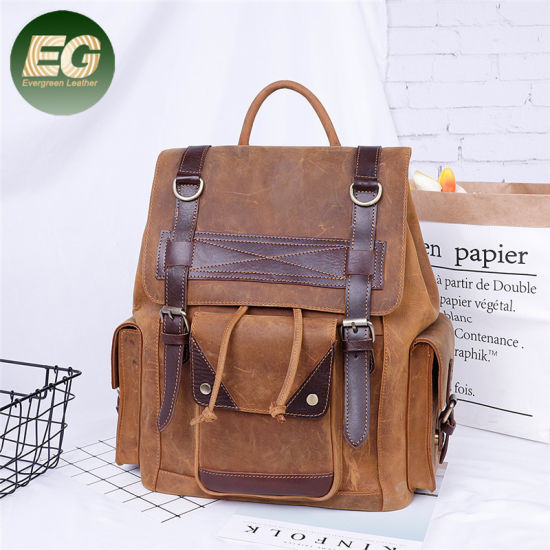 a8f04514b2 Full Grain Cow Leather Backpack Men′s Travelling Backpack Leisure Backpack  Emh013. Get Latest Price
