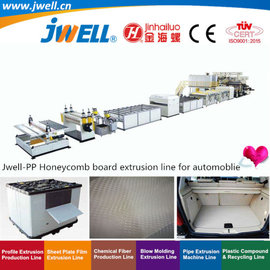 Jwell-PP Plastic Honeycomb Board Plate Recycling Agricultural Making Machine for Manufacturing Different Kinds of High Strength Packing Box and Automoblie