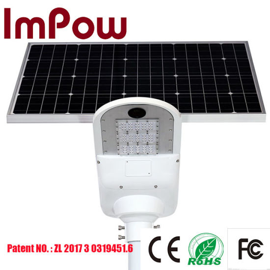 Hybrid AC- DC Grid Power Network 50W Integrated Solar Panel Street Light