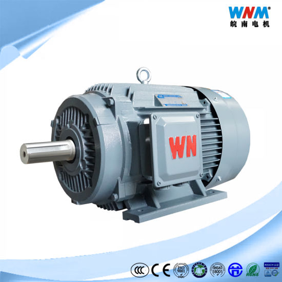 Ye4 Ce Approved IEC Ie4 Efficiency Three Phase Electric Induction Motor Working IC411 Cooling S1 Duty IP55 for Fans Pumps Blowers Ye4-132s2-2 7.5kw