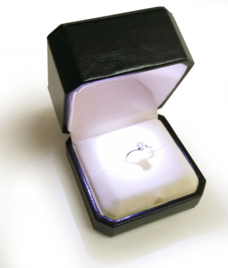 Wedding Ring Box Gift Decoration Deluxe Double Jewellery Case Married Proposal