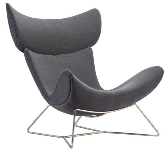 Upholstery Fiberglass Egg Imola Lounge Chair with Ottoman