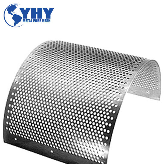 Punched Hexagonal Hole Plate Perforated Aluminum Screen Mesh Sheet